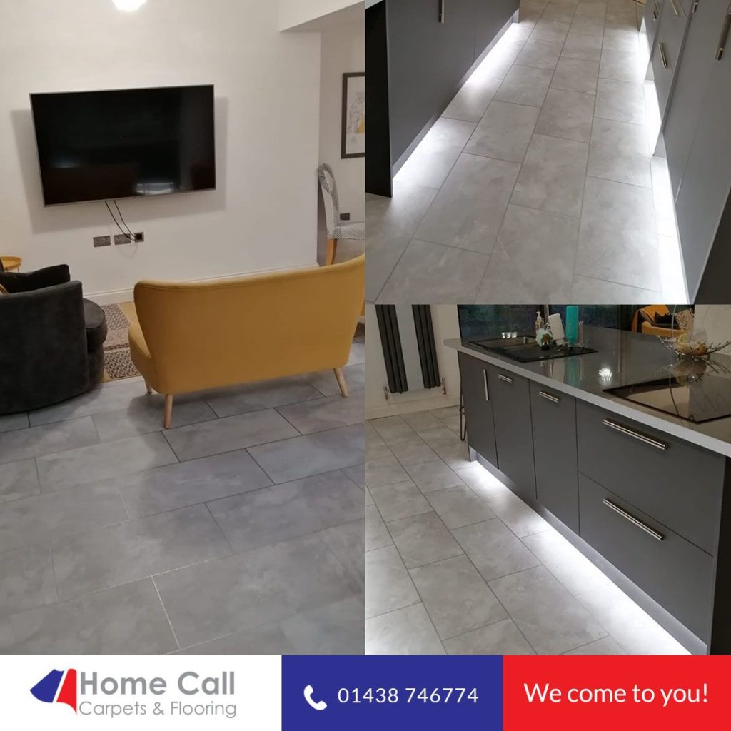 Flooring for living room and kitchen
